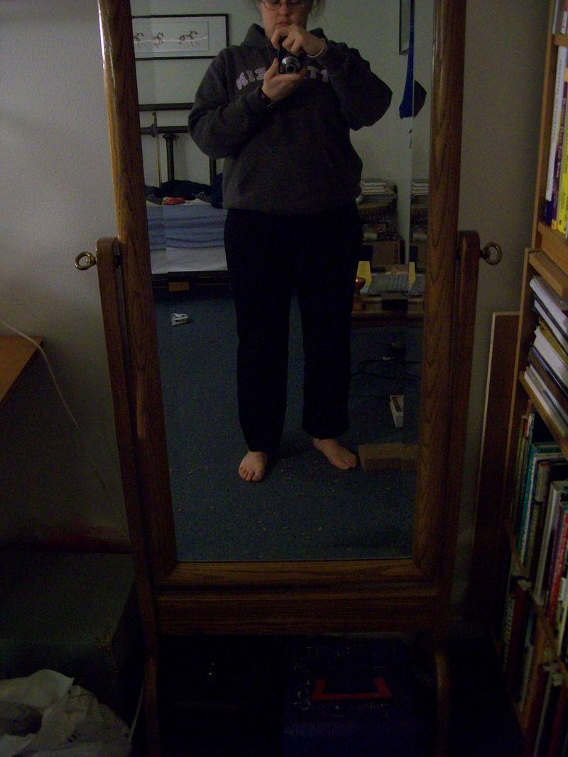 Black pants before