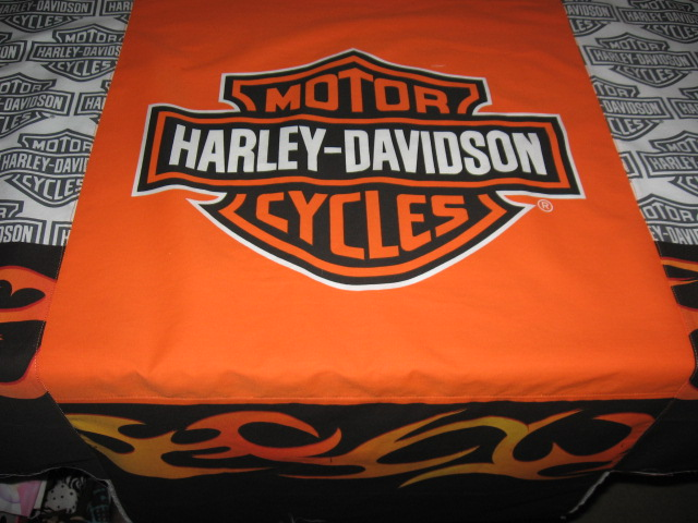 wardrobe refashion: playing with linens again -- harley davidson style