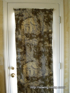 Door blackout curtain after-1