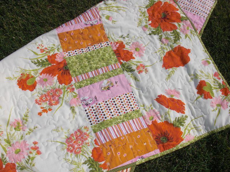 Tablecloth quilt back