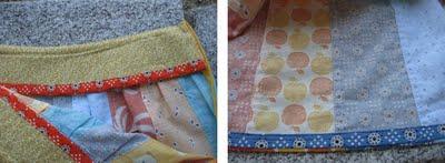 Skirt interior details collage