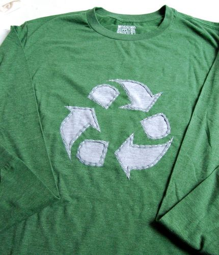 recycle shirt - reverse applique