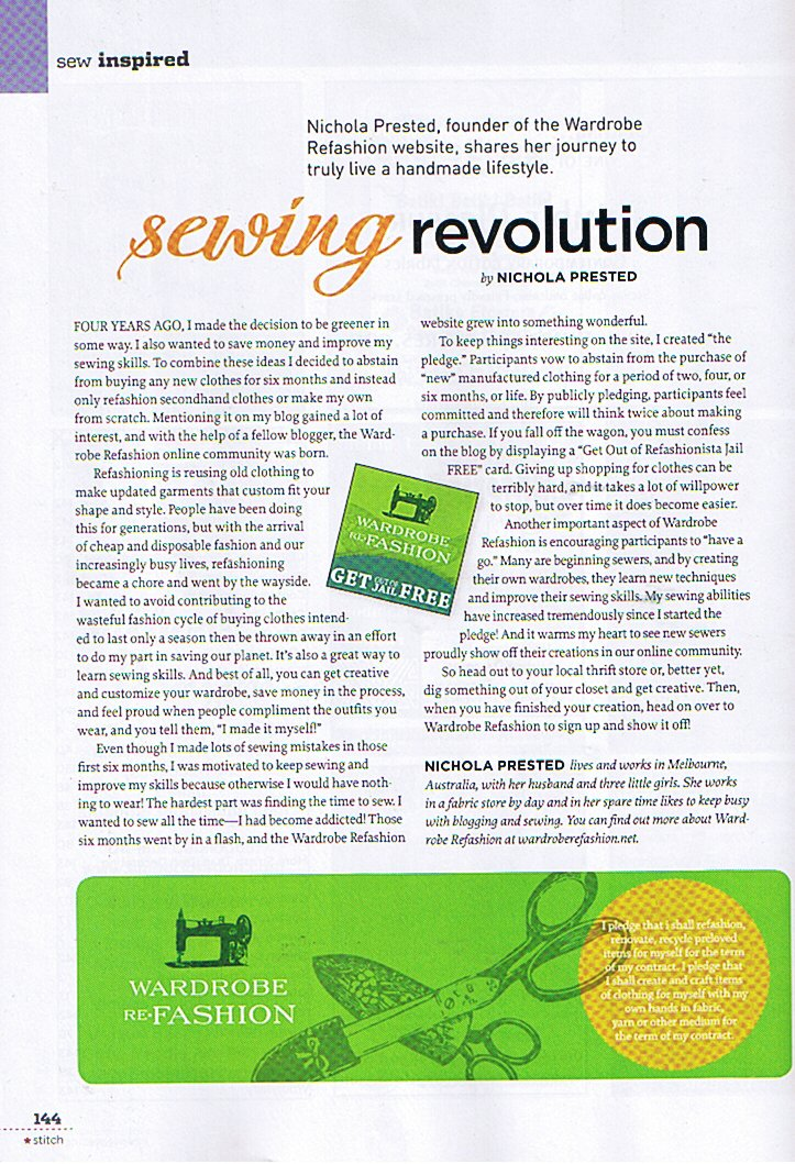 Stitch magazine wr article