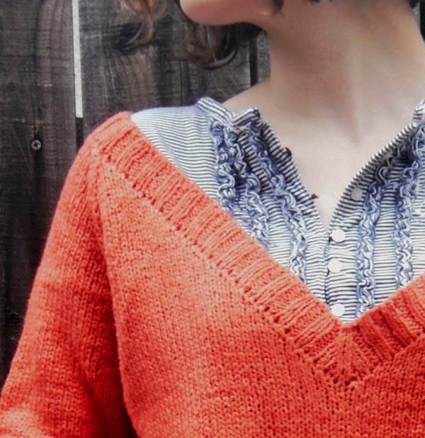 Orange pullover 1