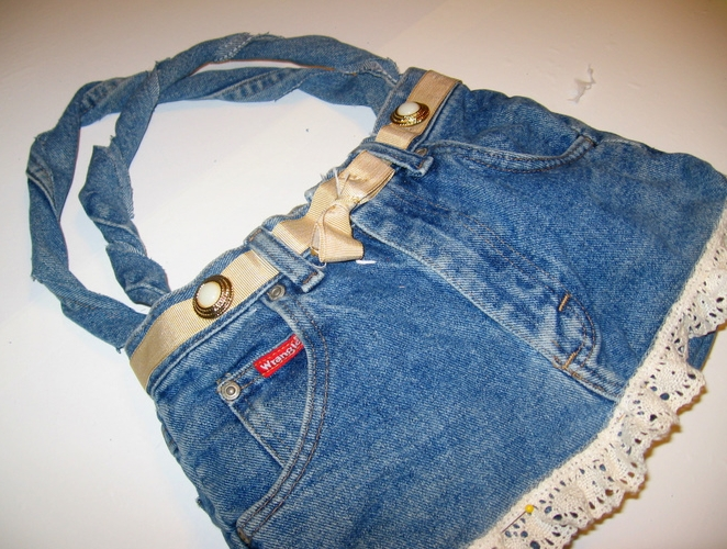 Denim Pants Purse